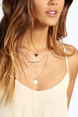 boohoo Alexis Bead And Coin Layered Necklace