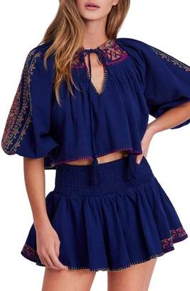 Free People Cherry Bomb Top & Shorts