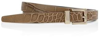 Reiss Blossom Croc-Embossed Leather Belt