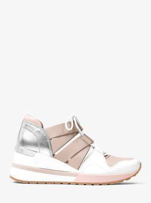 MICHAEL Michael Kors Beckett Leather and Metallic Sneaker
