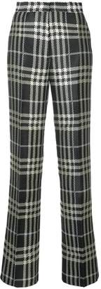 Self-Portrait plaid straight leg trousers