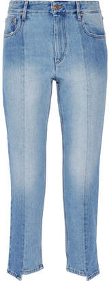 Etoile Isabel Marant Clancy Cropped High-rise Straight-leg Jeans - Light denim
