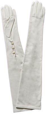 Portolano White Silk-Lined Leather Opera Gloves