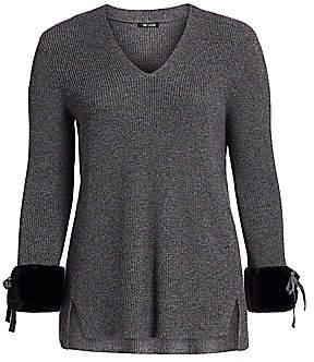 NIC + ZOE, Plus Size NIC + ZOE, Plus Size Women's Warm & Fuzzy Faux Fur-Trim Sweater