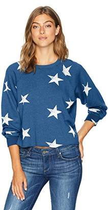 Monrow Women's Oversized Star Cut Off Raglan