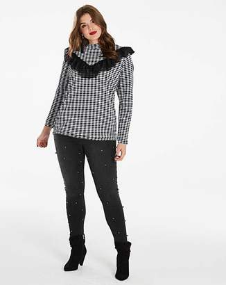 Simply Be Checked Ruffled Top