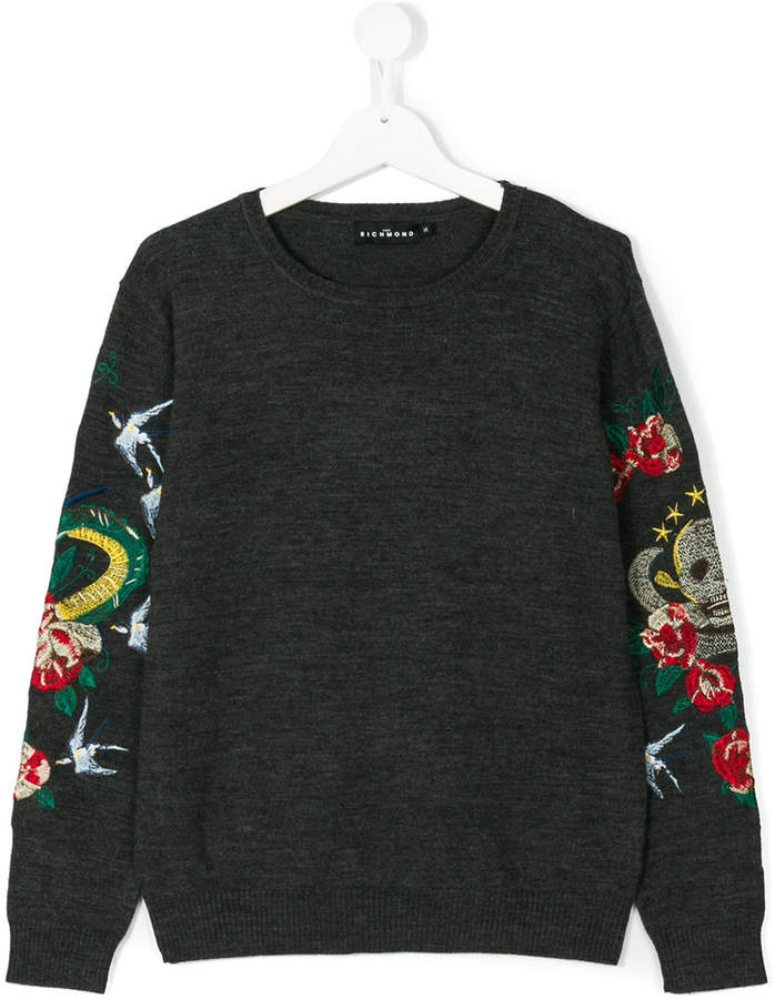 John Richmond Kids embroidered sweater