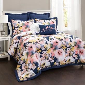 Floral Watercolor 7-piece Comforter Set