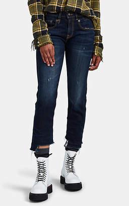 R 13 Women's Boy Straight Jeans - Blue