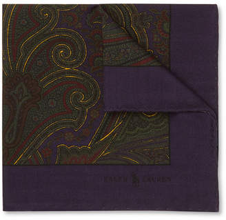 Polo Ralph Lauren Paisley-Print Wool Pocket Square