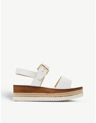 Dune Kaze leather flatform sandals