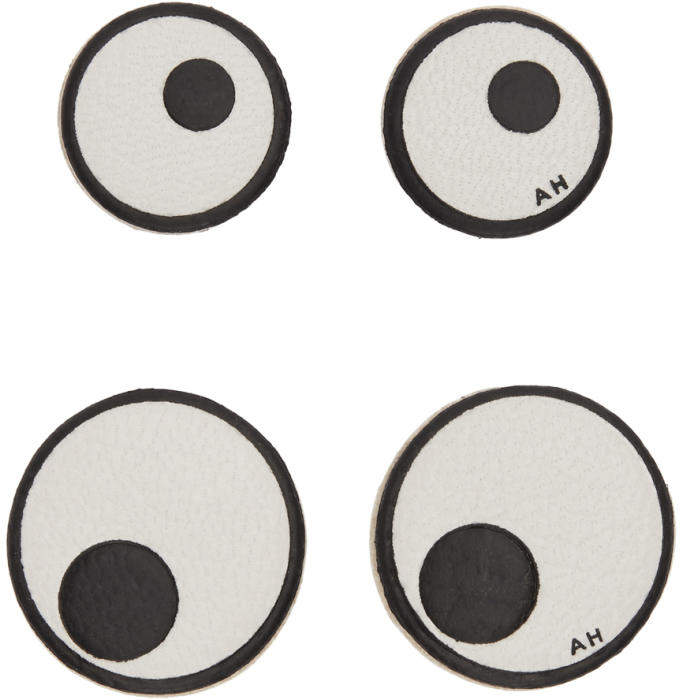 Anya Hindmarch Off-White Leather Eyes Stickers