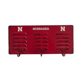 Nebraska Cornhuskers 3-Hook Metal Coat Rack
