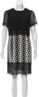 Anna Sui Lace Embroidered Mini Dress Black Lace Embroidered Mini Dress