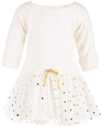 First Impressions Baby Girls Fleece Tulle-Skirt Dress