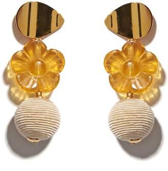 Lizzie Fortunato Goldenrod Column Drop Earrings