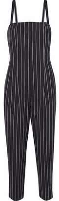 Max Mara Cropped Striped Wool-Blend Twill Jumpsuit