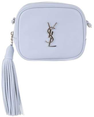 Saint Laurent Nappa Monogram Blogger Bag Powder Blue