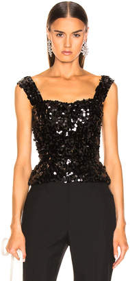 Dolce & Gabbana Sequin Bustier in Black | FWRD