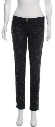Current/Elliott Mid-Rise Embellished Jeans