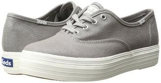 Keds - Triple Metallic Canvas Women's Slip on Shoes $55 thestylecure.com
