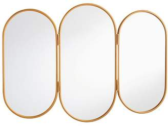 Pottery Barn Teen Triptych Vanity Mirror, Gold, Gold