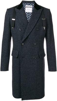 Moschino overall tweed coat
