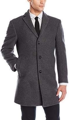 Calvin Klein Men's Slim Fit Wool Blend Overcoat Jacket,Regular