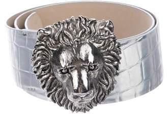 Blumarine Metallic Leather Belt