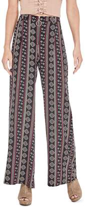 GUESS Factory Women's Macie O-Ring Palazzo Pants