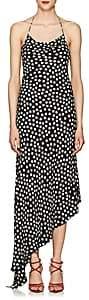 Juan Carlos Obando Women's Polka Dot Silk Slipdress-Black