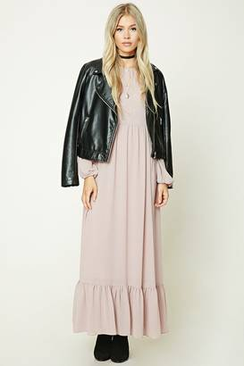 FOREVER 21+ Oversized Peasant Maxi Dress $32.90 thestylecure.com