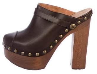 Chanel Leather Platform Clogs