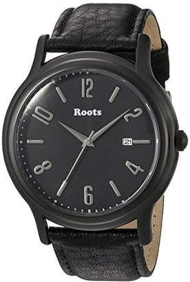 Roots 'Core' Quartz Stainless Steel and Leather Casual Watch