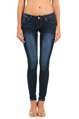 Cover Girl Women's Plus Size Five Pocket Classic Blue Wash Slim Fit Skinny