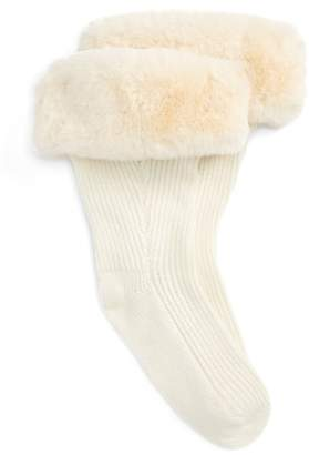 UGG Rain Boot Socks with Faux Fur Cuff