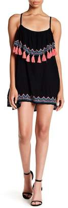 Tiare Hawaii Holter Embroidered Mini Dress