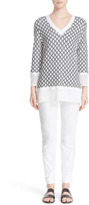 St. John Sport Collection Bardot Slim Capri Jeans