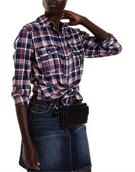 R & E RE: Check Cotton Girlfriend Shirt
