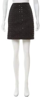 Anna Sui Quilted Mini Skirt
