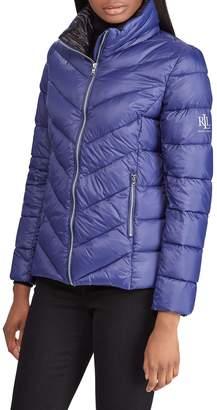 Lauren Ralph Lauren Chevron Quilted Packable Down Jacket