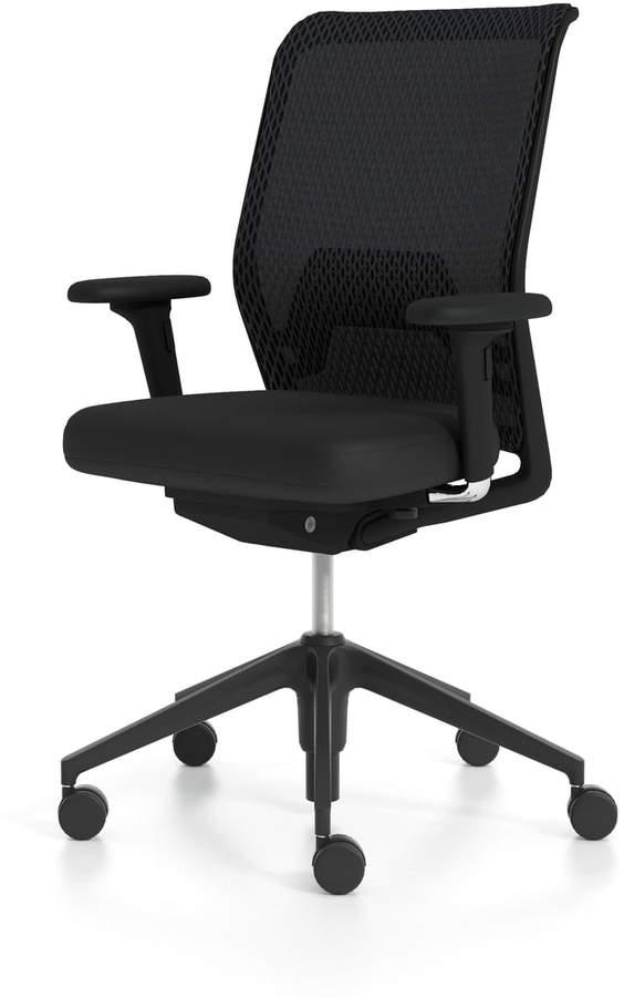 ID Mesh, Diamond nero /basic dark mit FlowMotion mit Vorwärtsneigung/Sitztiefenverstellung, 2D Armlehnen (Rollen für Hartböden)