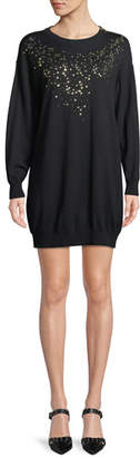 Moschino Studded-Front Sweater Dress