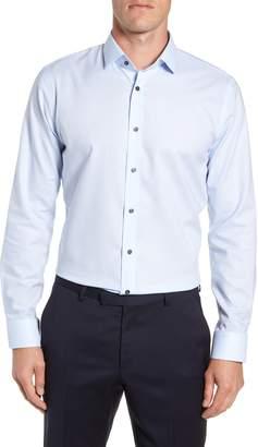 Calibrate Trim Fit No-Iron Solid Dress Shirt