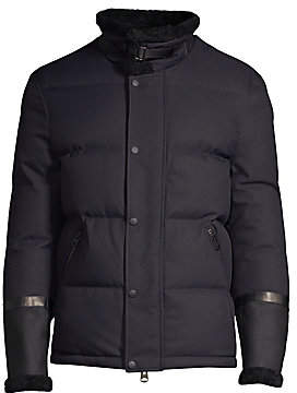 Mackage Men's Edmund Shearling-Trim Puffer Jacket