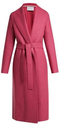 Harris Wharf London Belted Pressed Wool Coat - Womens - Pink