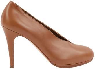 Hermes Camel Leather Heels