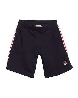 Moncler Cotton Sweat Shorts w/ Flag Sides, Size 8-14