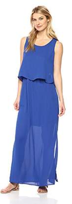 NY Collection Women's SL Slvless Scoop NK Maxi Dress W Keyhole