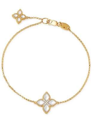 Roberto Coin 18K Yellow Gold Venetian Princess Diamond & Mother-of-Pearl Bracelet